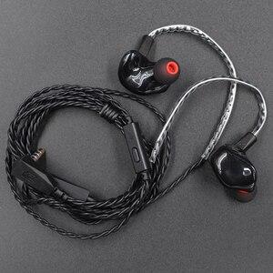 Image 5 - Kz zs3 cabo destacável ergonômico fone de ouvido nie ouvido monitor áudio isolamento ruído alta fidelidade música esportes fone