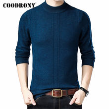 COODRONY Brand Pure Merino Wool Turtleneck Sweater Men Autumn Winter Thick Warm Cashmere Pullover Men Sweaters Pull Homme 93025(China)