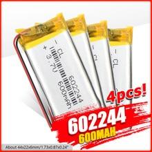 Batterie polymère 600 mAh 3.7 V 602244 MP3 haut-parleurs Li-ion batterie pour DVR GPS MP3 MP4 téléphone portable Bluetooth haut-parleur jouets électriques