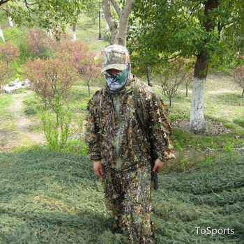 3D Leaf Camouflage Clothing Hunting Clothes New Bionic Suits Camouflage Clothing Jacket And Pants Polyester Oxford Fabric 3