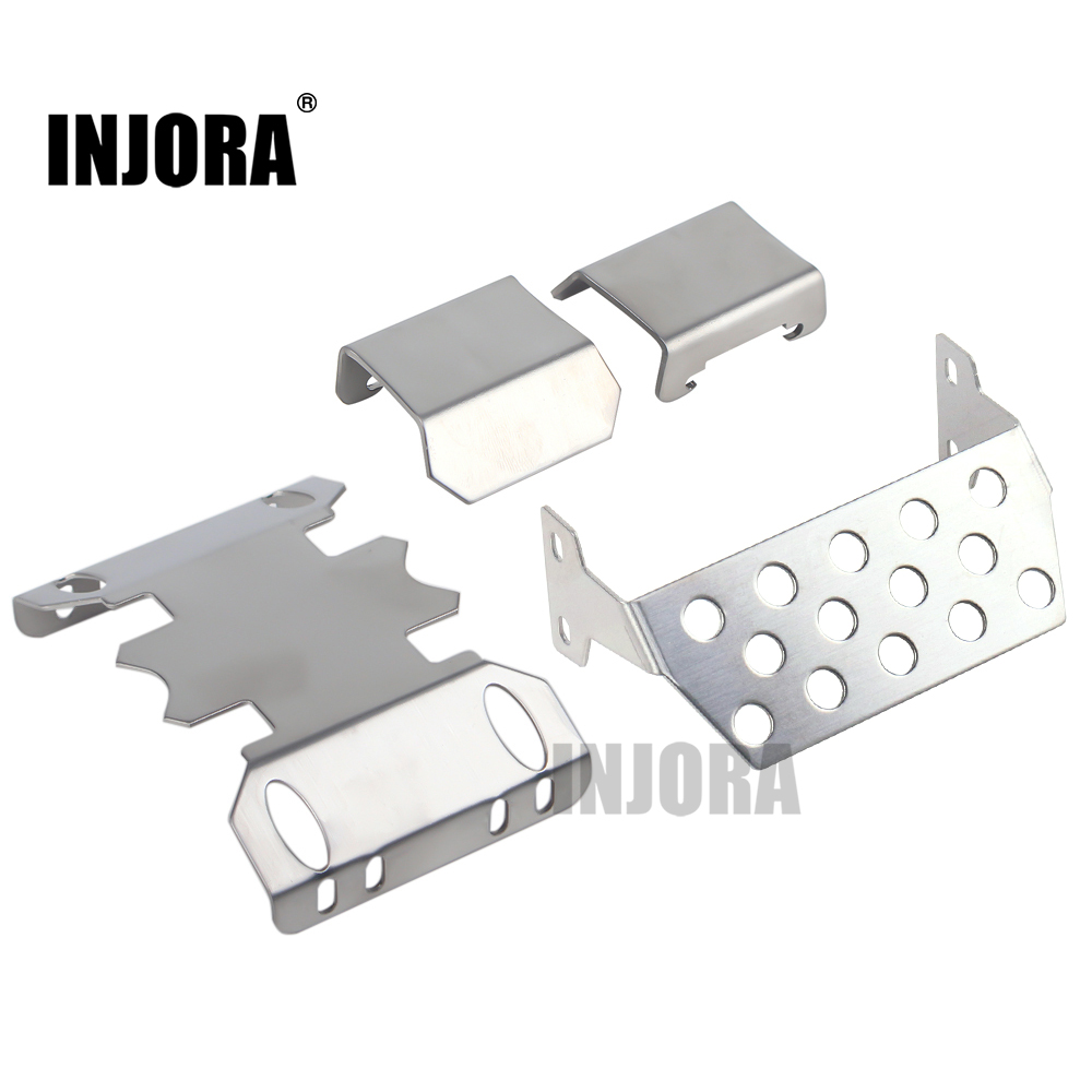 INJORA Metal Chassis Armor Axle Protector Plate For 1/10 RC Crawler Axial SCX10 II 90046 90047 90059 90060 Upgrade Parts