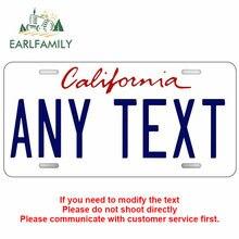 Earlfamily 13cm x 6.5cm para comprar personalizado califórnia estado placa de licença oficial réplica vinil etiqueta do carro da motocicleta decalque