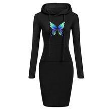 Осенне зимнее теплое платье свитшот женская одежда с длинным