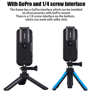 Image 3 - Cadre de étui de protection en plastique Ulanzi pour Insta 360 une X Cage de boîtier avec capuchon dobjectif de caméra
