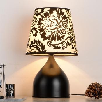 Vintage Black Iron Table Lamps for Living Room Bedside Bedroom Lamp Desk Light Fixtures Led Stand Lighting Home Decor Luminaire