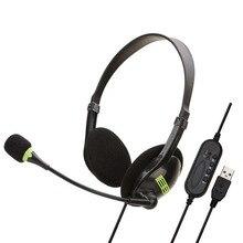 Usb Headset Met Microfoon Noise Cancelling Computer Pc Headset Lichtgewicht Wired Hoofdtelefoon Voor Pc/Laptop/Mac/ School/Kids