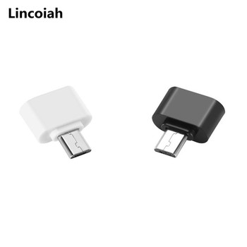 Male Micro USB B OTG to Female USB Type A Adapter On The Go Black for Smartphones Tablets Android Samsung Xiaomi image