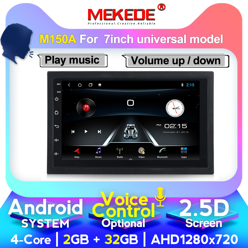 Voice control <font><b>Android</b></font> <font><b>10</b></font> <font><b>7</b></font> <font><b>inch</b></font> 2Din Universal Car Radio <font><b>GPS</b></font> Multimedia Unit Player For VW Nissan Kia with wifi 4G lte BT image