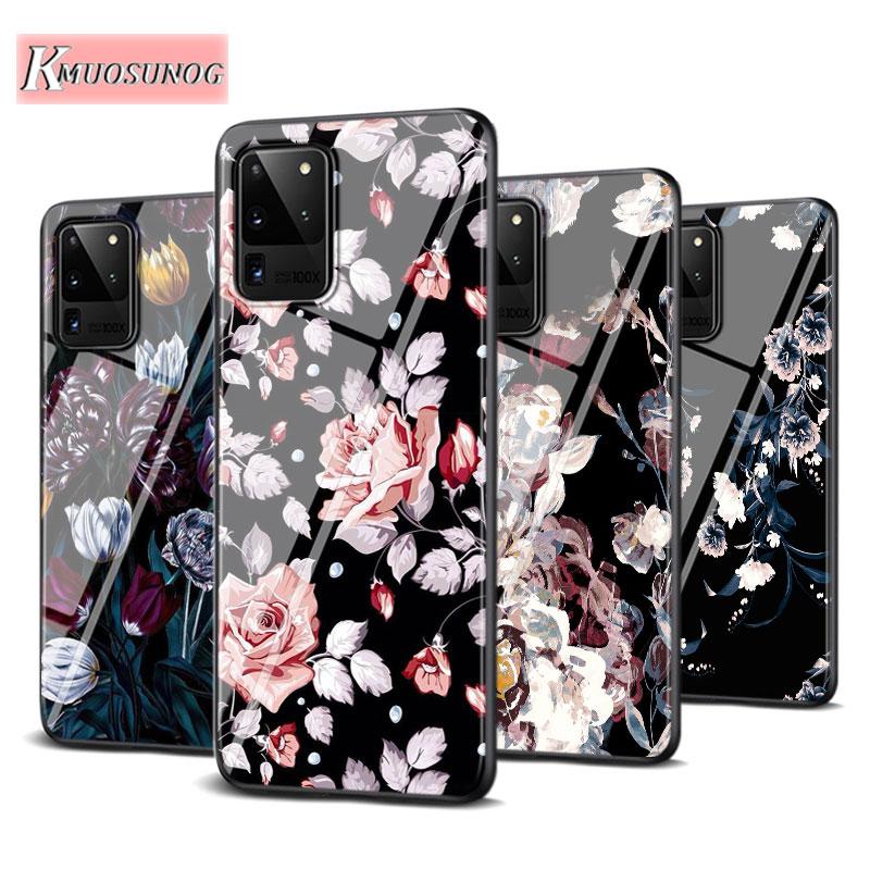 Best Dark Flower For Samsung Galaxy Note 10 Lite S20ultra S20 Plus A01 A21 A51 A71 A81 A91 Super Bright Phone Case