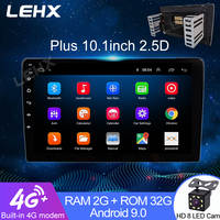 "LEHX 2din Auto Radio 10.1 ""Android 9, 0 Auto-Multimedia-Player GPS Wifi Autoradio Bluetooth FM Mirrorlink"