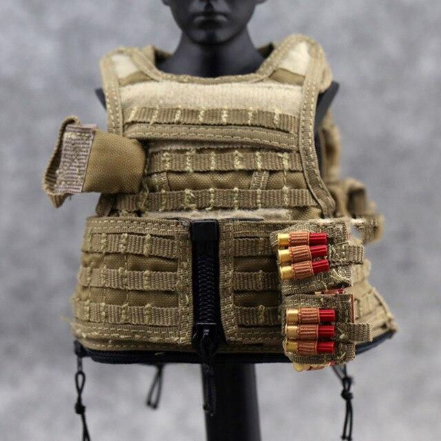 1/6 Scale Combat Bullet Bag Shotgun Belt Smoke Cartridge Bags 3 Styles Model for 12 1