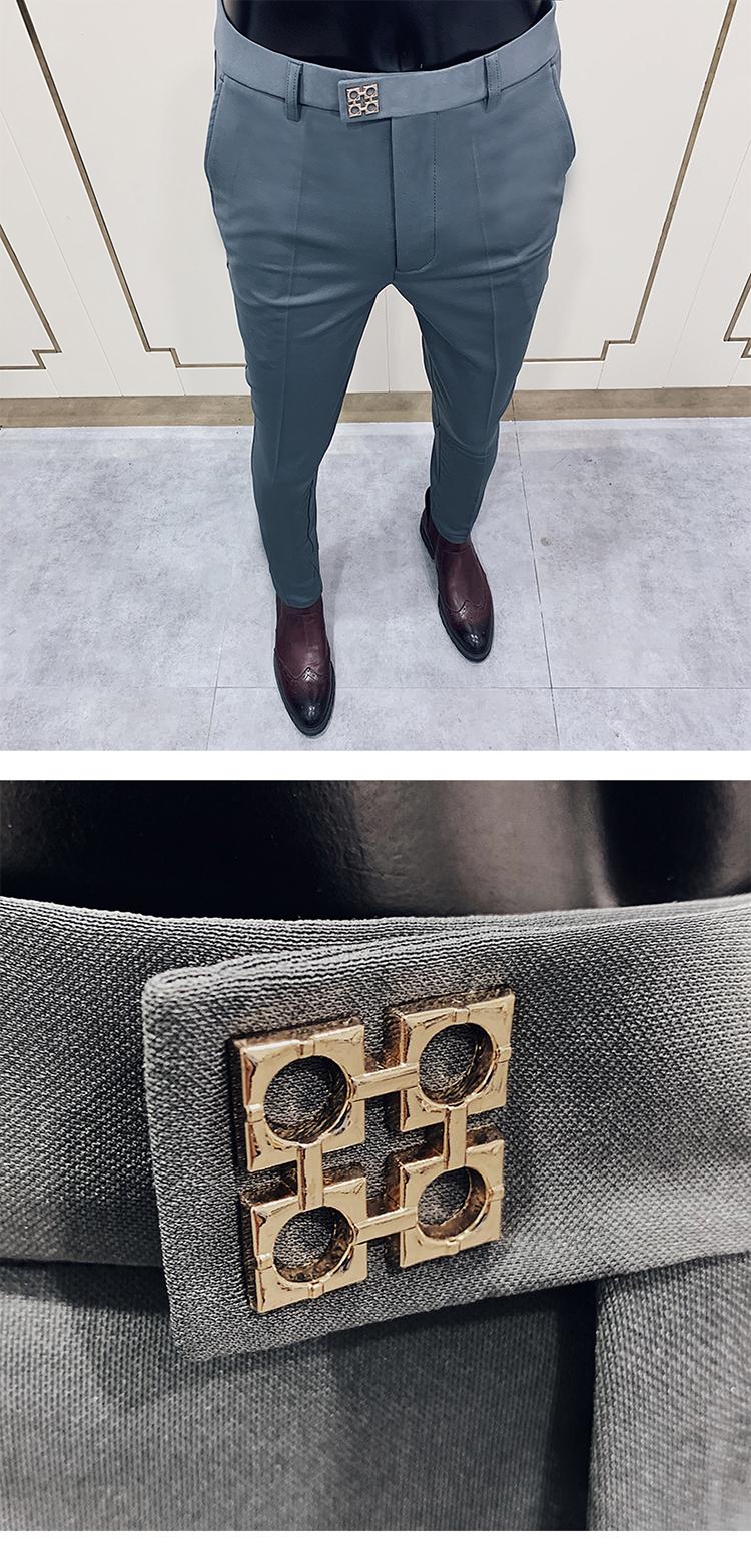 Men's Fashion Business Slim Formal Dress Pants