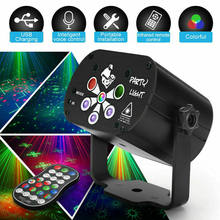 129 Patterns Laser Projector Sound Party Light Show Led RGB UV Lights DJ Disco Lamp Professional Stage Effects for Dance Floor