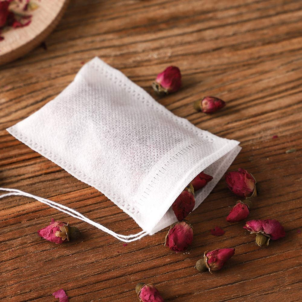 100Pcs/lot Disposable Tea Bags Empty Scented Tea Bag With String Heal