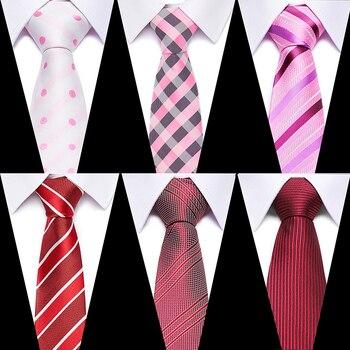 Wedding 7.5cm 100% Silk Men's Luxury Tie  Jacquard Cravatta Plaids Floral Necktie Striped Ties Man Fromal  Dress Accessories Tie