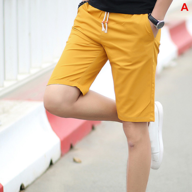 2020 Summer Men's shorts Casual Loose Cropped Trousers  4