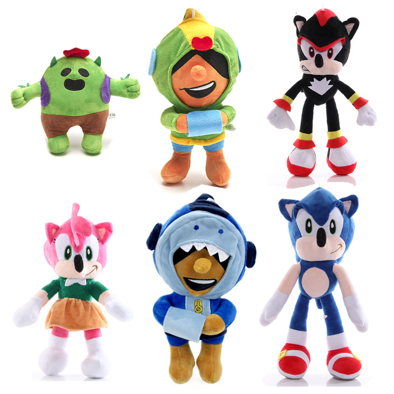 8PCS Brawl Games Set Cartoon Star Hero Figure Spike Shelly Plush Toy  Anime Model Leon Action Figure Boy Girl Birthday Gifts