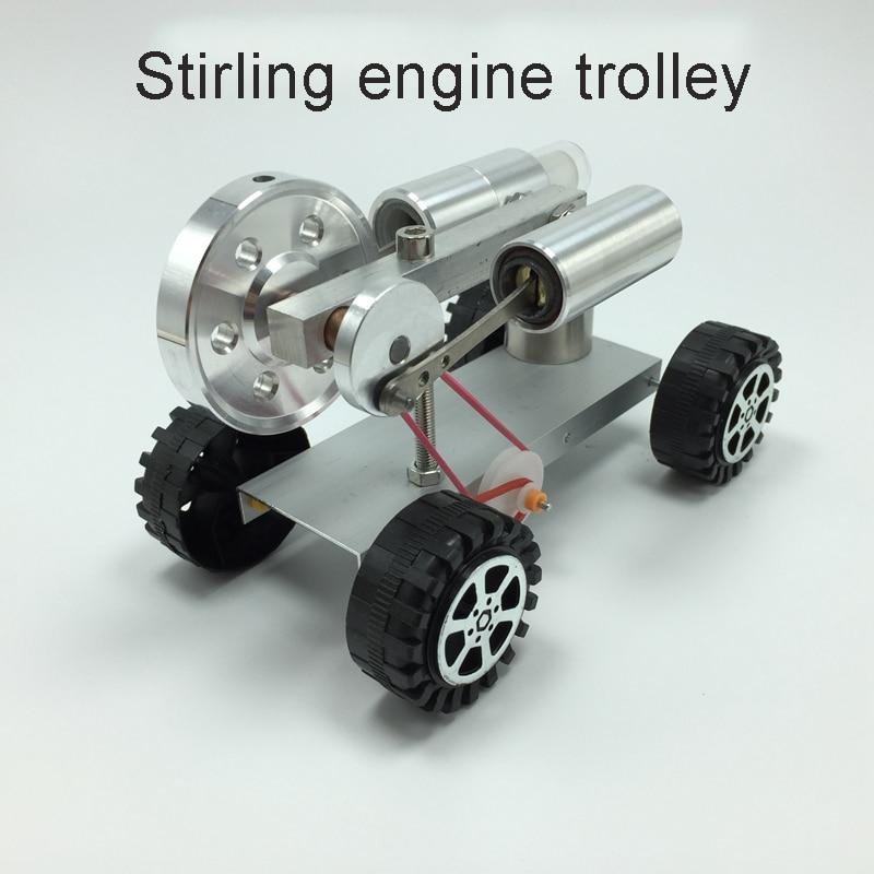 Sterling Engine Trolley Model Mini Generator Model Steam Engine Model Mini Engine Chiildren's Birthday Gift