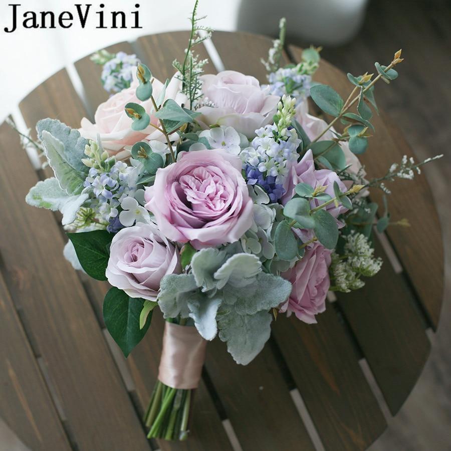 Bouquet Rose Sposa.Janevini Boquet Sposa Purple Bridal Flower Bouquets Morandi Color