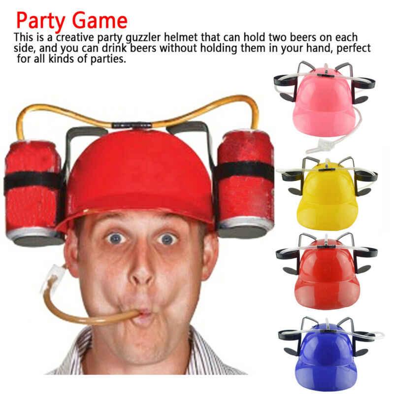 Chapéu de palha solto, festa de aniversário, legal, brinquedo, único, adereço, bocal, capacete para beber, cerveja, refrigerante