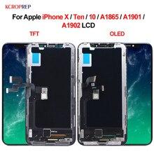 """עבור Apple iPhone X עשר 10 A1865 A1901 A1902 LCD תצוגת מסך מגע Digitizer הרכבה 5.8 """"החלפת חלקי iPhone X lcd"""