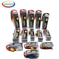 Batería LiPo 2S 3S 4S 6S 2200 4200 5200 6000mAh 30C 40C 60C 7,4 V 11,1 V 14,8 V RC para Dron, helicóptero, avión, Coche