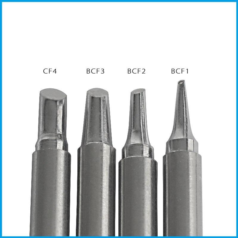 Gudhep Soldering Tips T12-BCF1 BCF2 BCF3 CF4 Soldering Iron Tips For Hakko FM203 Soldering Rework Station FM2027 Handle