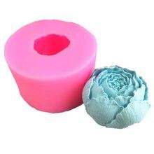 New flower flower peony flower silicone mold chocolate flip sugar baking mold gypsum diy soap mold