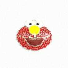 ¡El más nuevo! 46mm * 40mm 10 unids/lote Elmo colgantes de diamantes de imitación ¡envío gratis!