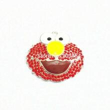 Le plus récent! 46mm * 40mm 10 pcs/lot Elmo strass pendentifs livraison gratuite!