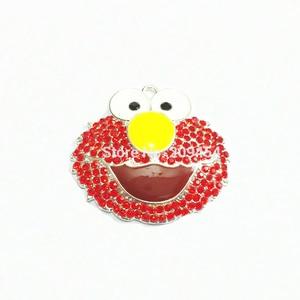 Image 1 - O mais novo! 46mm * 40mm 10 pçs/lote Elmo Pingentes de Strass Transferência Gratuita!