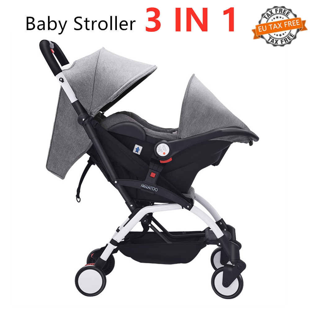 Carriage Type Strollers Us 124 6 30 Off Yoya Baby Stroller Ultra Light Folding Prams Newborn Basket Type Safety Seat Stroller 3 In 1 Buggy Baby Carriage 5 8kg Portable In
