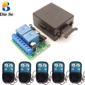 Image 1 - 12V 10A 2CH rf Relay Receiver 433MHz Universal Wireless Remote Control opener for  Electric curtains/ gate/ garage/ door
