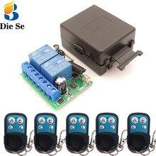 12v 10a 2ch rf relé receptor 433mhz universal abridor de controle remoto sem fio para cortinas elétricas/portão/garagem/porta