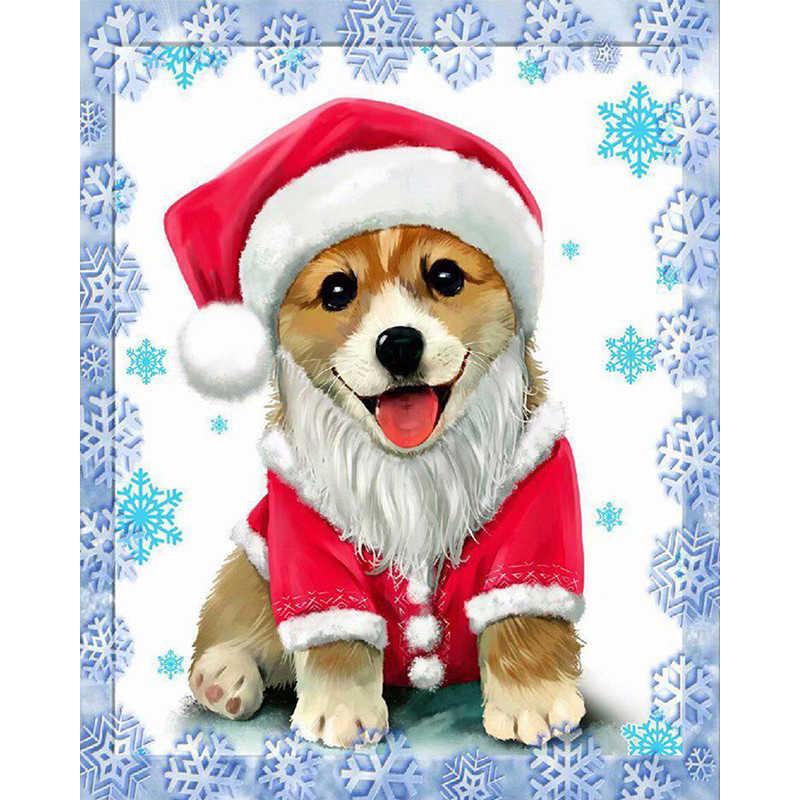 Pet Corgi Dog Diamond Painting Cute Design Embroidery Wall Decoration DIY Mosaic