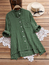 Spring Autumn Striped Maternity Nursing Blouse Long Sleeve T-Shirt Loose Pregnant Women Breastfeeding Blouse Pregnancy Clothings summer maternity wear striped breastfeeding short sleeve nursing dress pure color loose open forked long t shirt pregnant cloth