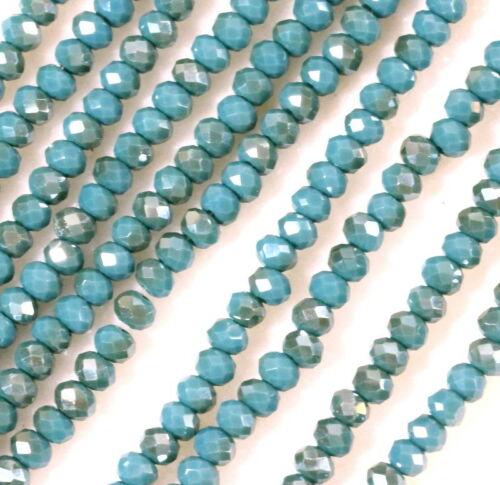 STENYA 4*3 мм Хрустальные чешские бусины Rondelle граненые ювелирные изделия разделитель для серег браслет Лариат Ожерелье Аксессуары - Цвет: picture color
