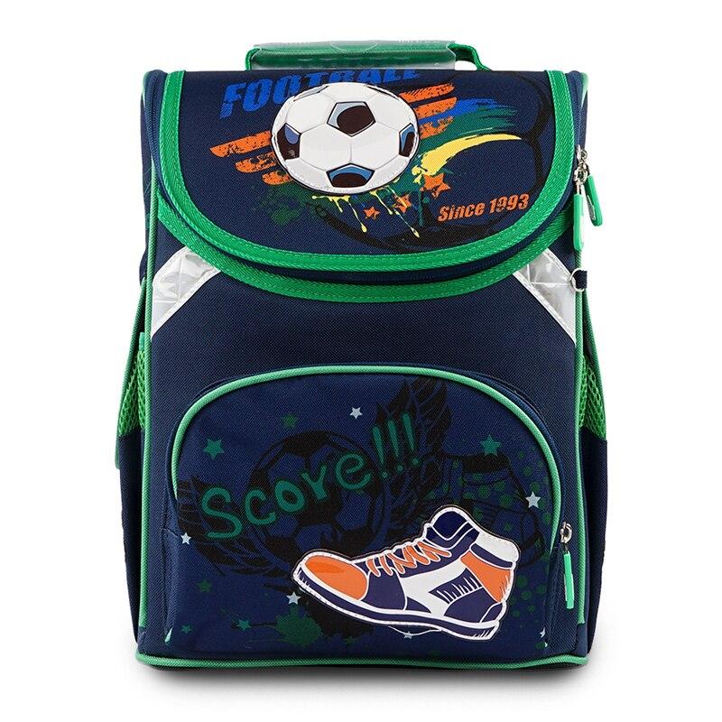 2020 New Model Delune Orthopedic Kids School Bag For Children 5-10 Years Boys Football Print Backpack Mochila Infantil Grade 1-5