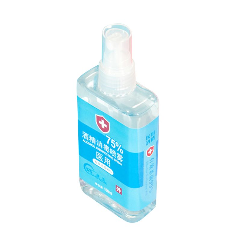 100ml 75% Alcohol Disinfecting Spray Non-Irritating Non-Toxic Portable Sterilization Rinse-Free Antibacterial Liquid