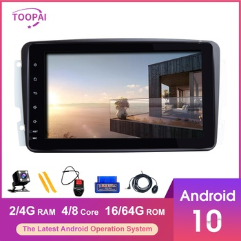 TOOPAI Android 10 For Mercedes Benz CLK W209 Vito W639 Viano Auto Radio GPS Navigation SWC Car Multimedia Player IPS 2din New image