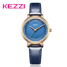 KEZZI Brand Lovers Watches Men Women Casual Leather Strap Qu