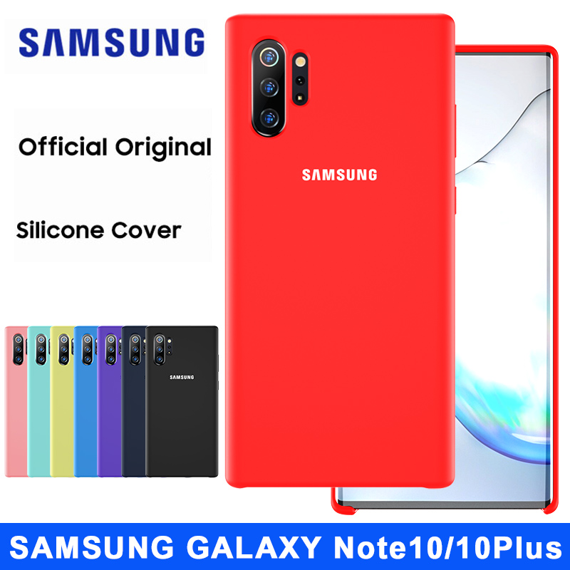 SAMSUNG Note 10 Case Original Official Soft Liquid Silicone Protector Sport Cover SAMSUNG Galaxy Note 8 9 10 Plus 10+ 5G Case