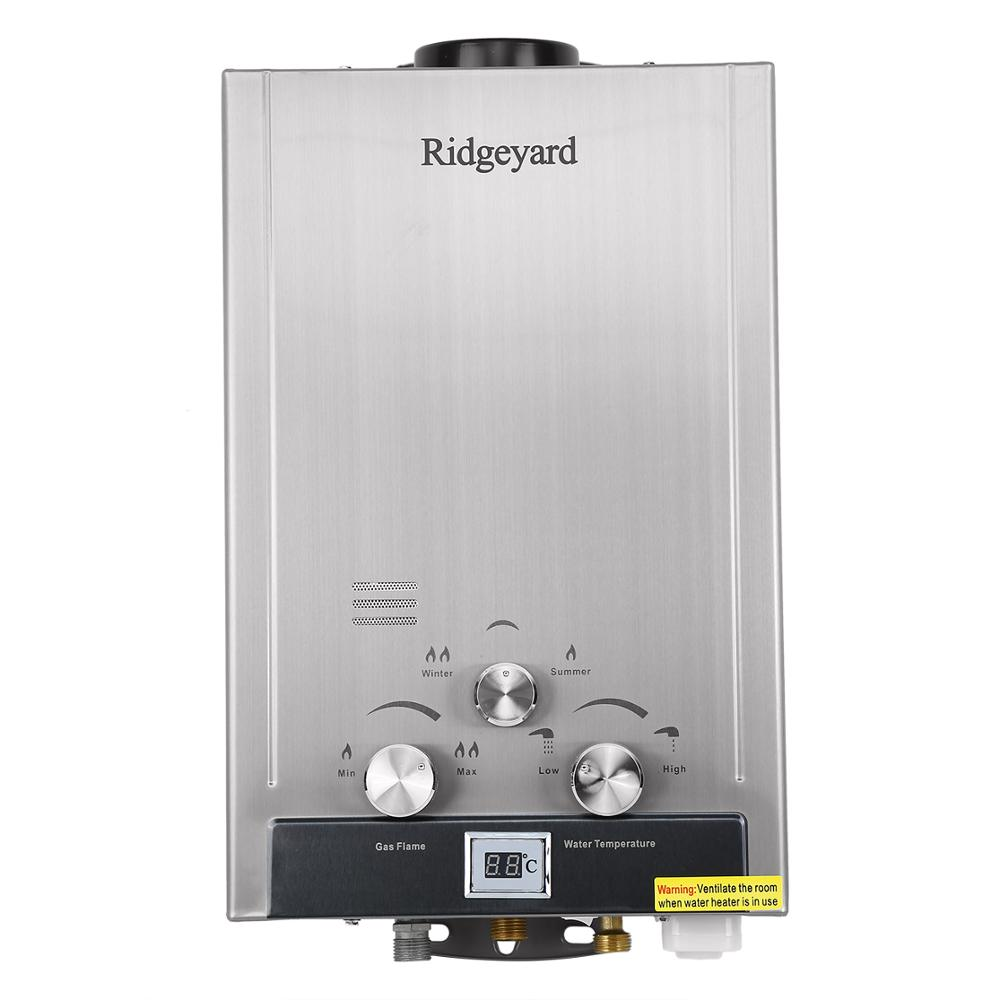 8L Natural Gas Tankless Hot Water Heater Methane Instant Boiler 2GPM Stainless Steel