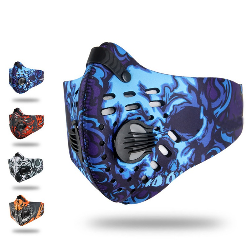 Spandex Activated Carbon Non-woven Cloth Dust-proof Adjustable Mouth Protection Outdoor Sport Cycling Face Masks