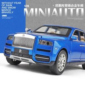 Image 2 - Royce Cullinan modèle de voiture en alliage, modèle de voiture SUV en métal, Simulation de grande taille, son léger, échelle rétractable, miniature