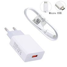 Pour Samsung Huawei Honor Xiaomi Mi 9 7A Redmi 5 Note 7 Oppo Reno F7 téléphone portable Micro usb Type C câble de Charge prise murale chargeur(China)