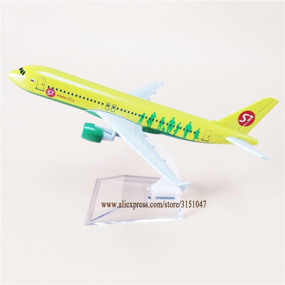 Ar russo sibéria s7 airlines airbus 320 a320 airways avião modelo de liga metal avião diecast aeronaves 16cm presente