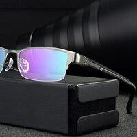 Evove Optical Glasses Frame Men Brand Titanium Eyeglasses Frames Grade Semi Rimless Big Size Large Spectacles Prescription Male