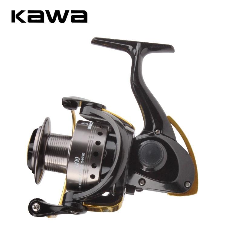 KAWA New Fishing Reel Spinning Wheel Trolling Lure Reel Max Drag 4.5kg 9+1Bearings Metal Alloy Spool Eva Handle Knob Ratio 4.8:1
