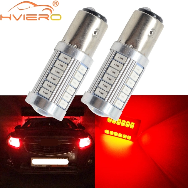 Car Led White Red 1156 BA15S 1157 BAY15D 5W 33SMD 5730 LED Car Brake Light Tail Lamps Turn Signal Auto Rear Reverse Bulbs DRL